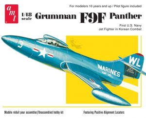 AMT Grumman F9F Panther Model Kit - 1/48 Scale