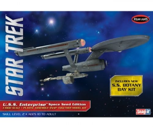 Polar Lights Star Trek TOS USS Enterprise Space Seed Edition  1:1000 Snap Kit