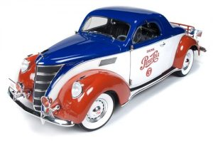 Auto World 1937 Lincoln Zephyr Coupe (Pepsi) 1:18 Scale Diecast
