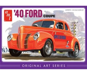 AMT 1940 Ford Coupe Original Art Series - Orange 1:25 Scale Model Kit