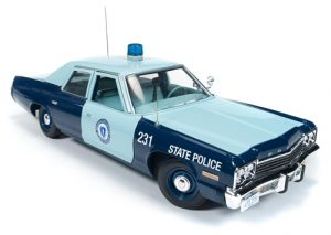 American Muscle 1974  Dodge Monaco Pursuit (Massachusetts State Police) 1:18 Scale Diecast