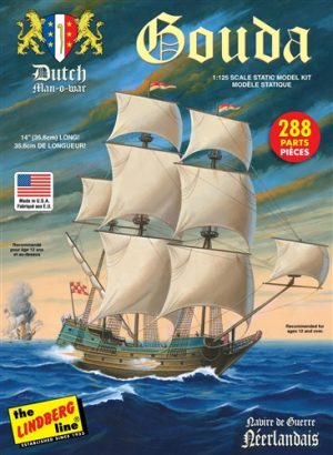 Lindberg Gouda Dutch Man of War 1:125 Scale Model Kit