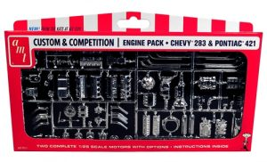 AMT GM Motor Parts Pack Chevy 283 & Pontiac 421 1:25 Scale