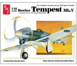 AMT Hawker Tempest V Airplane 1:48 Scale Model Kit