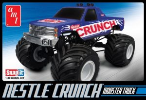 AMT Nestle Crunch Chevy Monster Truck 1:32 Scale SNAP Kit