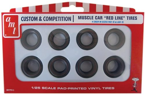 AMT Red Line Tires Parts Pack 1:25 Scale