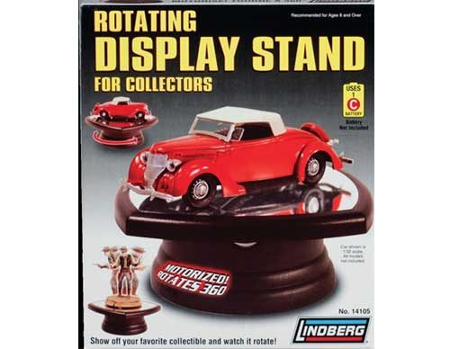 Rotating Display Stand With Mirror Base For Scale Cars Round - Car show display mirrors