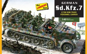 Lindberg German Half-Track Personnel Carrier 1:40 Scale Model Kit