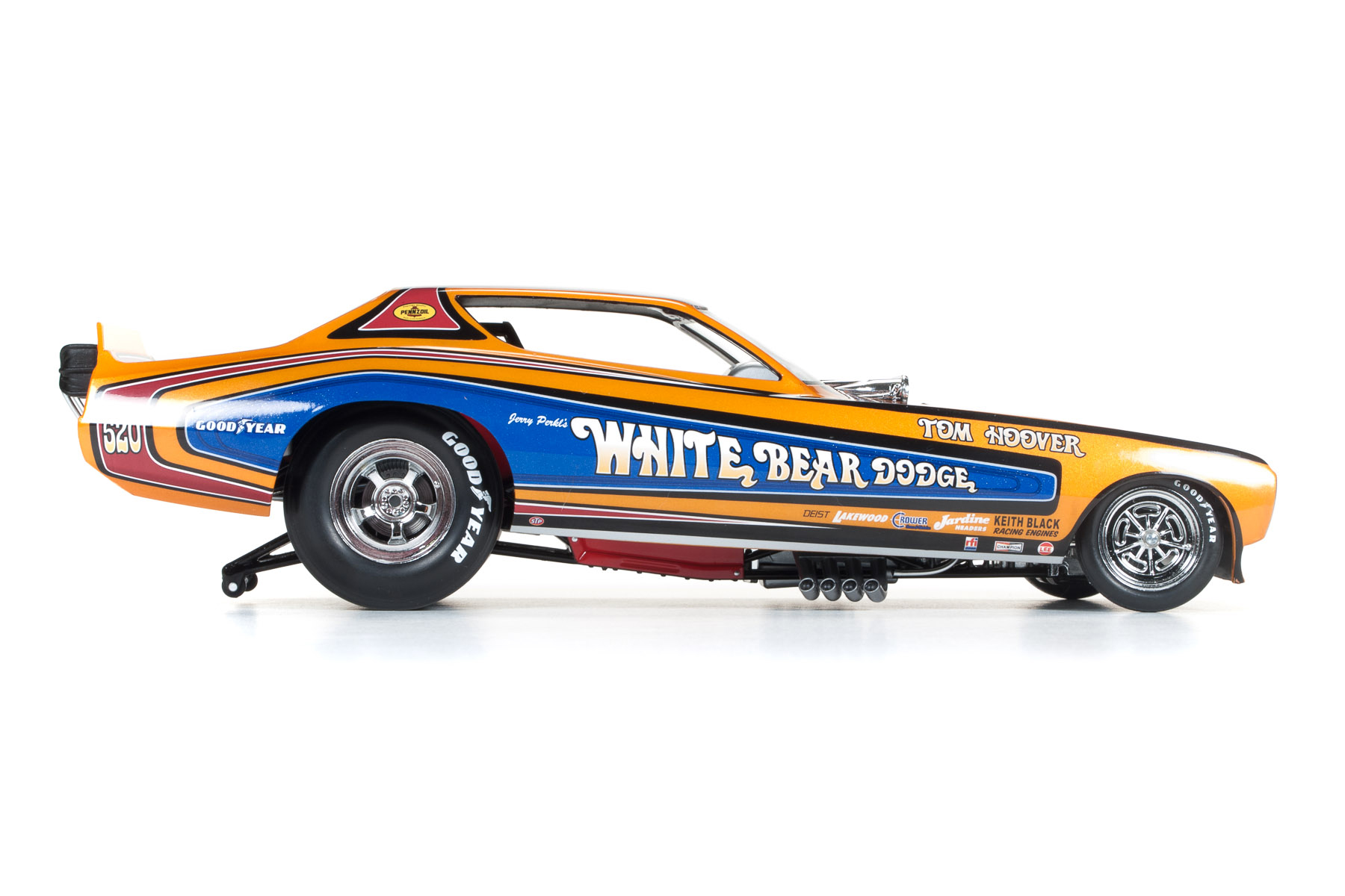 White Bear 1971 Dodge Charger Funny Car Tom Hoover Round2