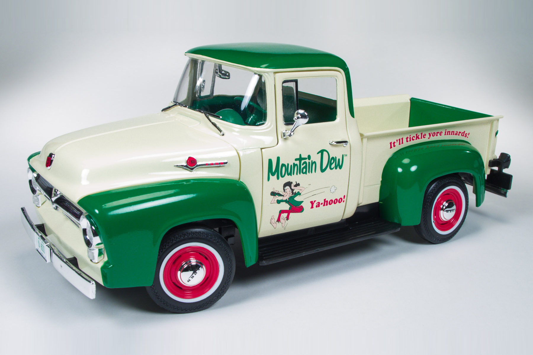 1956 Ford F 100 Pickup Truck Mountain Dew Round2
