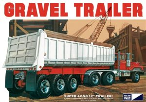 MPC 3 Axle Gravel Trailer 1:25 Scale Model Kit