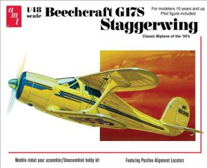 AMT Beechcraft G17S Staggerwing 1:48 Scale Model Kit