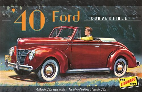 Lindberg 1940 Ford Convertible 1:32 Scale Model Kit