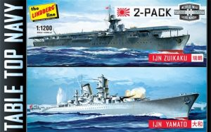 Lindberg Tabletop Navy: (Yamato & Zuikaku) 2 Pack 1:1200 Scale Model Kits