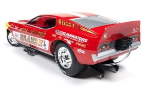 Auto World Sien & Lankford - Brand X 1970's Ford Mustang Funny Car (Rudy Escobar) 1:18 Scale