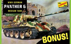 Lindberg German Panther G Bonus Pack 1:72 Scale Model Kit