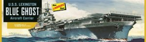 Lindberg U.S.S. Lexington Aircraft Carrier 1:525 Scale Model Kit