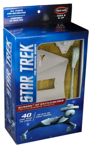 Polar Lights Star Trek TOS Klingon D7 Snap Pre-decorated 1:1000 Scale Kit