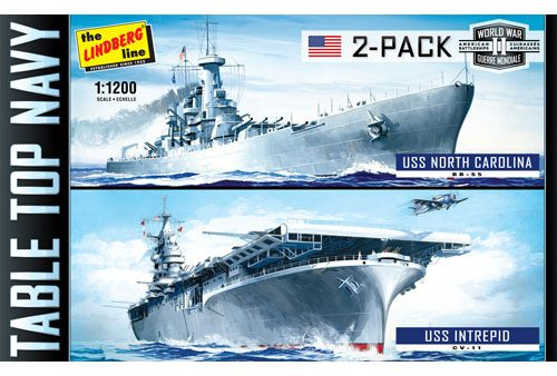 HL419-12 TTN 2-Pack USS Intrepid & USS North Carolina mockup