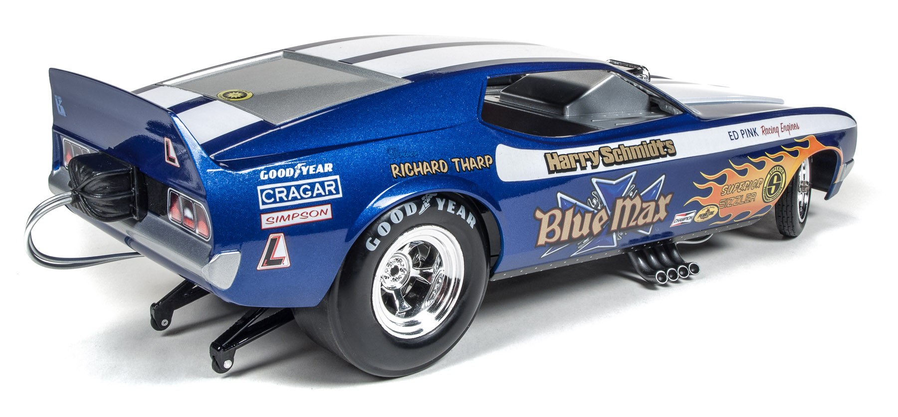 Blue Max 1971 Ford Mustang Funny Car Richard Tharp Round2