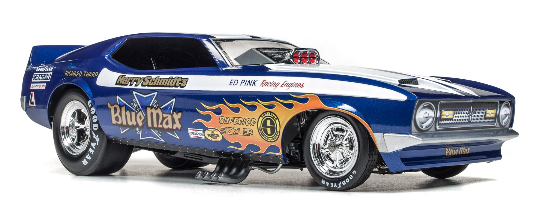 Richard Petty Mustang >> Blue Max 1971 Ford Mustang Funny Car (Richard Tharp) | Round2