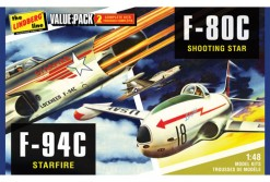 HL509–12 2-Pack F-80C Shooting Star & F-94C Starfire packaging