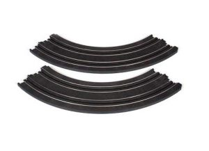 "Auto World 9"" Radius 1/4 curved track - bulk (8 pieces)"