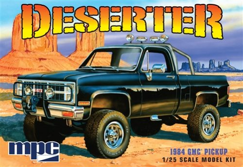 MPC 1984 GMC Pickup (Molded in White) 1:25 Scale Model Kit