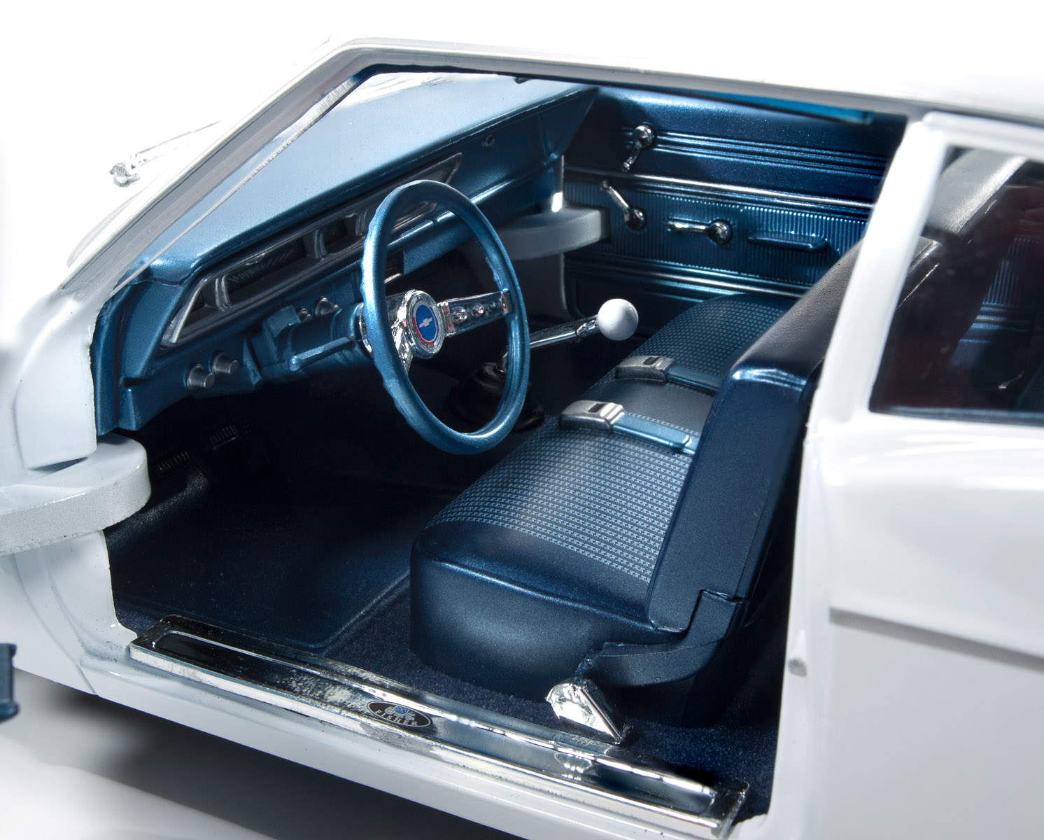 1966 Chevrolet Bel Air Round2 Rear View Home Scale 118