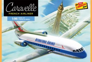 Lindberg French Jet Airliner Caravelle 1:96 Scale Model Kit