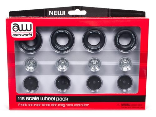 Auto World Slot Mag Wheel Pack 1:18 Scale Parts Pack