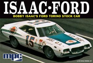 MPC 1972 Ford Torino Stock Car - Bobby Isaac #15 Sta-Power 1:25 Scale Model Kit