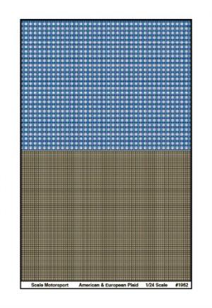 Scale Motorsport American & European Plaid Upholstery Pattern Decal 1:24 Scale