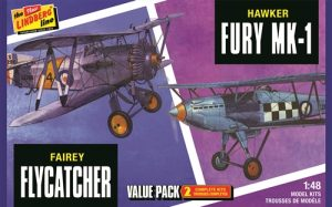 Lindberg Fairey Flycatcher & Hawker Fury 2-PACK 1:48 Scale Model Kit