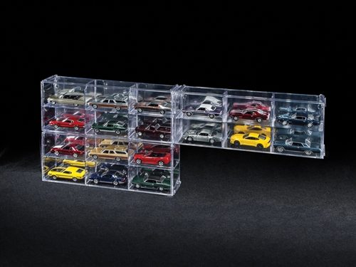 Auto World Six Car Interlocking Display Case 1:64 Scale