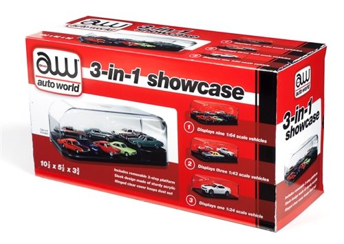 Auto World 3 in 1 Display Case (Interchangeable Inserts)