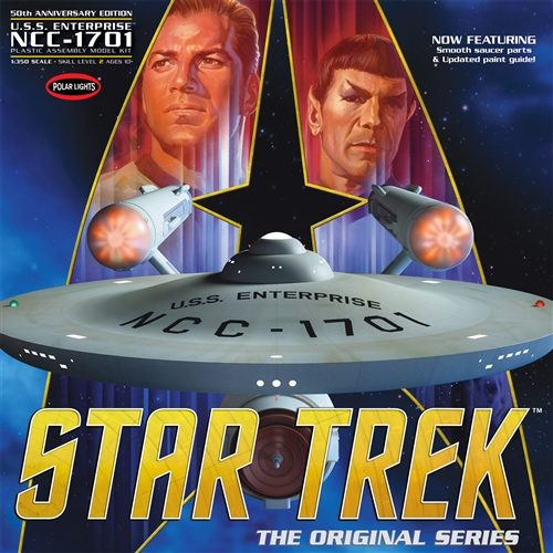 Polar Lights Star Trek TOS Enterprise NCC-1701 50th Anniversary Edition 1:350 Scale Model Kit