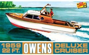 Lindberg Owens Outboard Cruiser Boat 1:25 Scale Model Kit