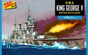 Lindberg HMS King George V 1:750 Scale Model Kit