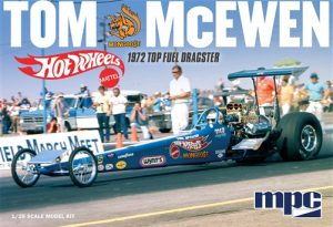 "MPC Tom ""Mongoose"" McEwen 1972 Rear Engine Dragster (Hot Wheels) 1:25 Scale Model Kit"