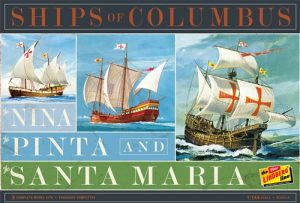 Lindberg Nina, Pinta & Santa Maria (3 Pack) 1:144 Scale Model Kits