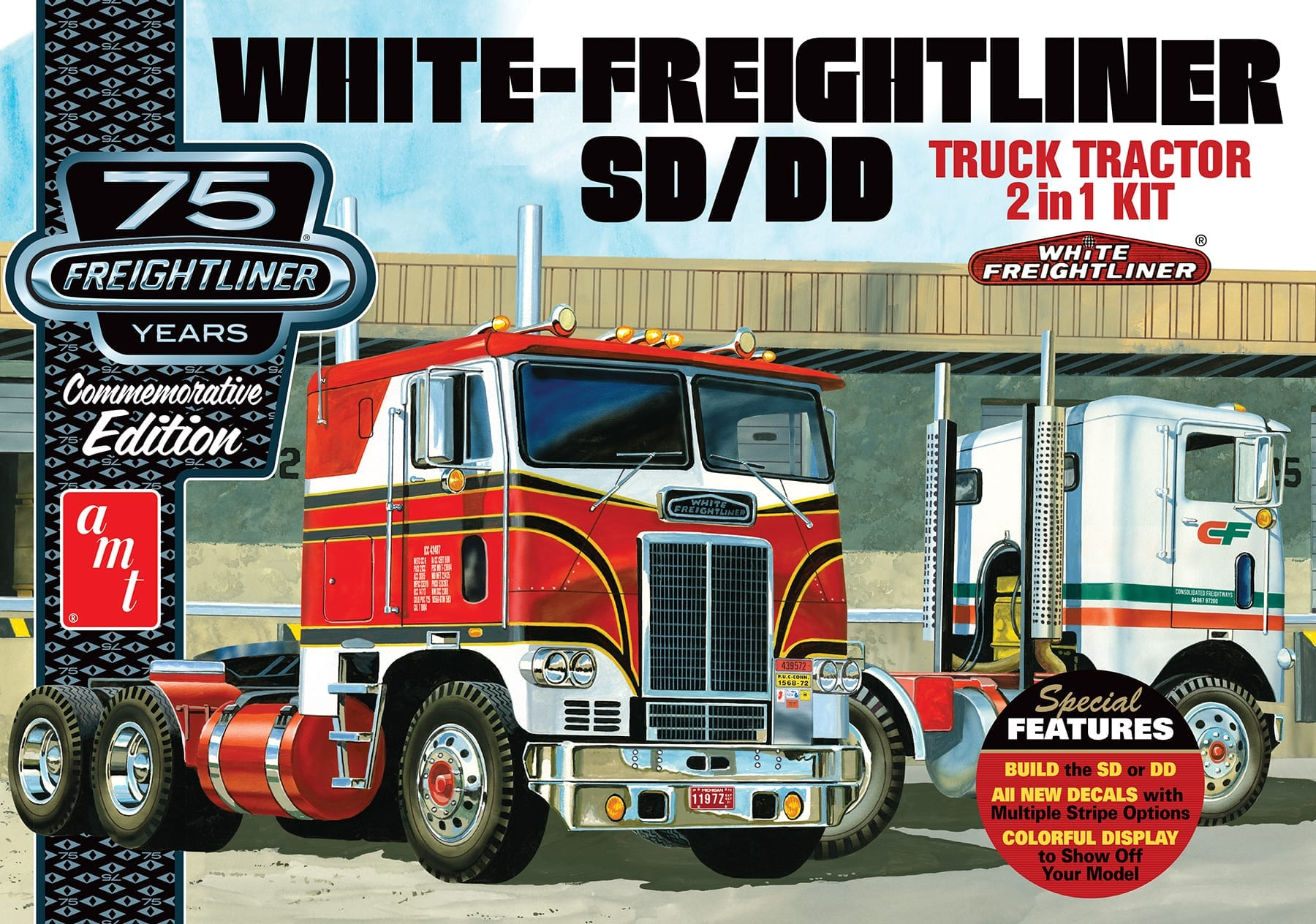 White Freightliner 2 In 1 Scdd Cabover Tractor 75th Anniversary