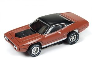 Xtraction R20 1971 Plymouth GTX Brown HO Scale Slot Car