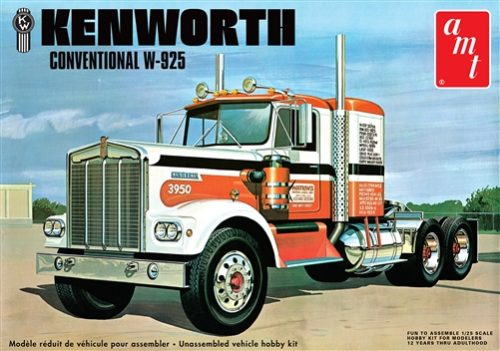 AMT Kenworth W925 Conventional 1:25 Scale Model Kit