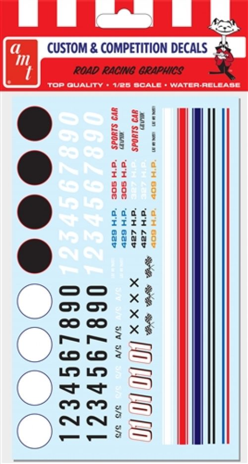 AMT Road Racing Graphics Decals 1:25 Scale