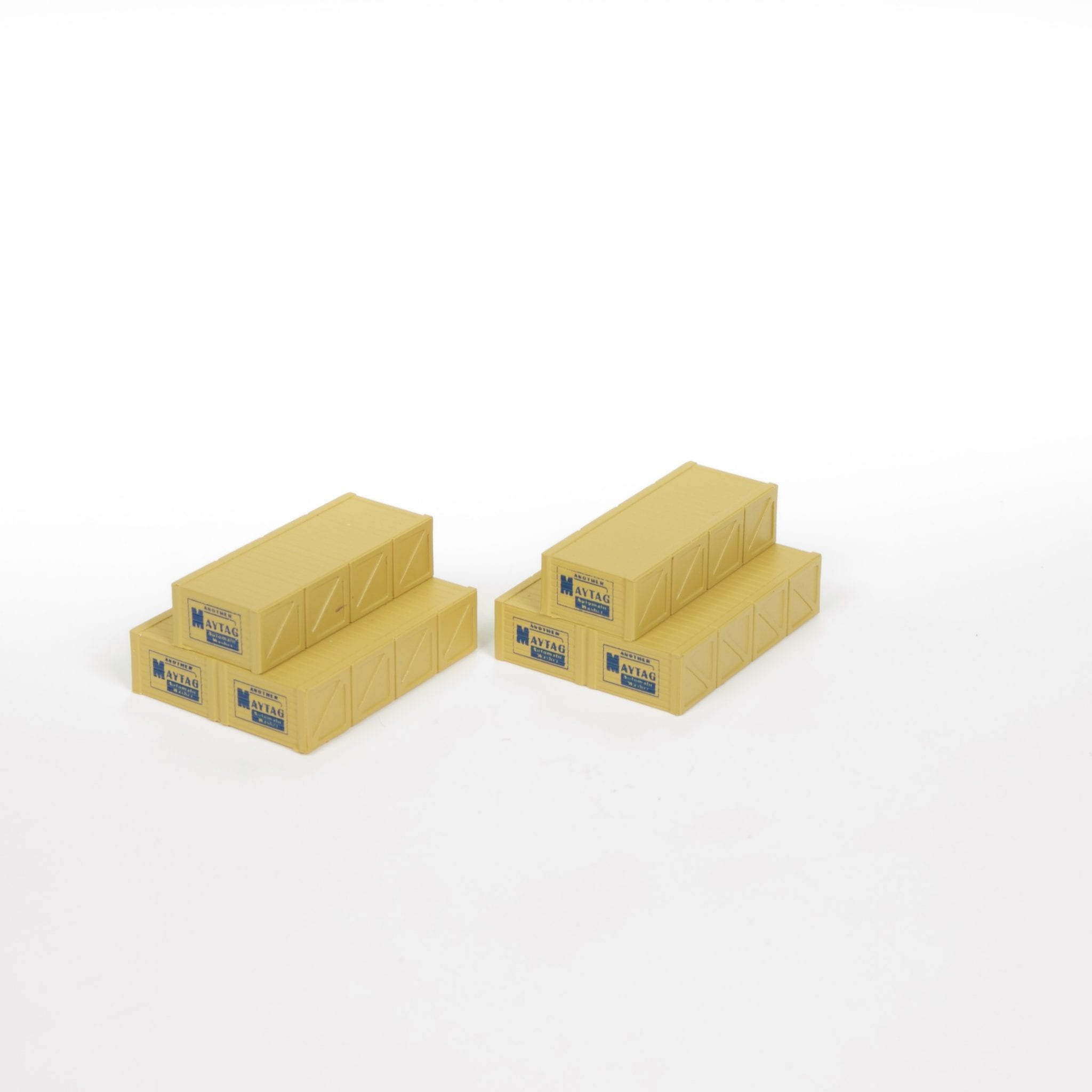 Mini Details Wooden Crates Maytag Accessory Set Ho Scale Round2