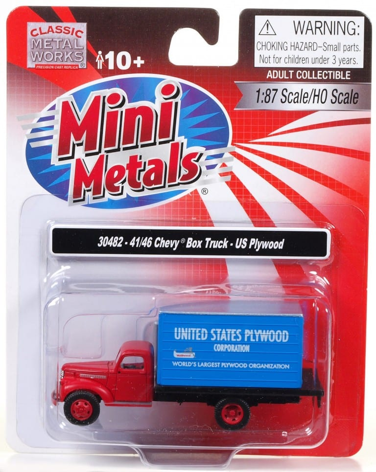 Mini metals chevrolet box truck united states