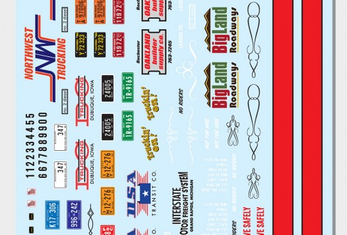 Big Rig Trucking Graphics Decals Use With Almost Any 125 Scale Big Rig Semi Truck