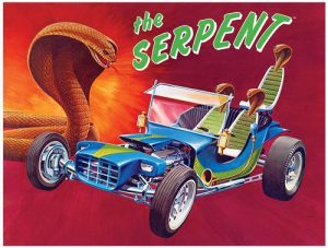 Lindberg Serpent Show Rod 1:16 Scale Model Kit