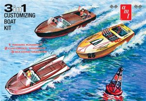 AMT Customizing Boat (3-in-1) 1:25 Scale Model Kit